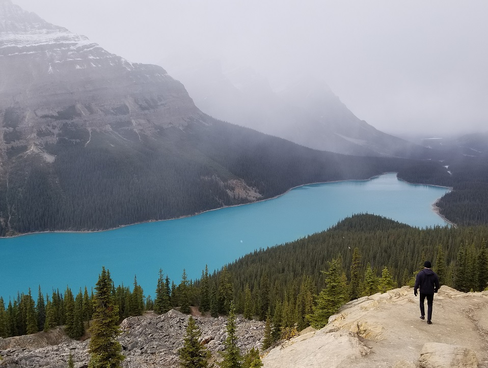 photo of peyto lake in western canada