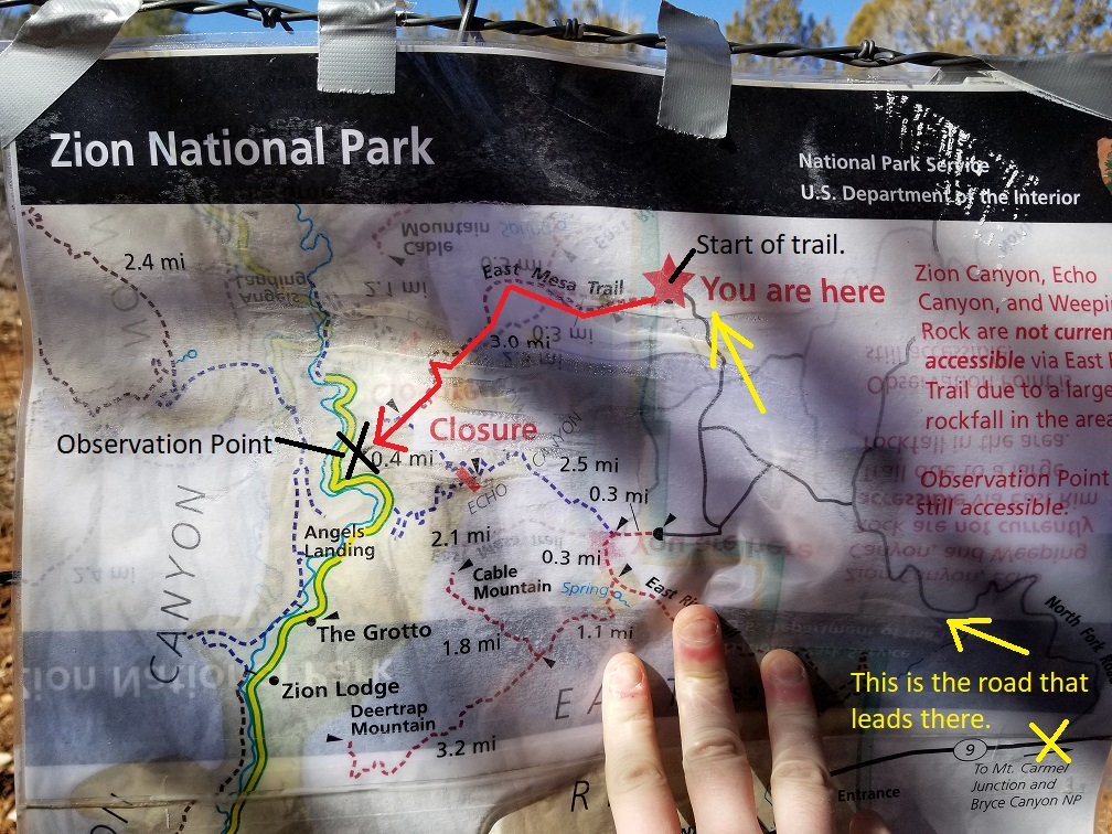East Mesa trail map