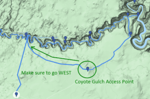 coyote gulch access point map