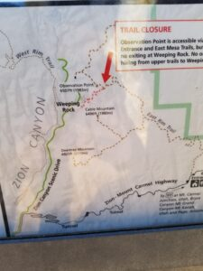 east mesa alternative hike to observation point map