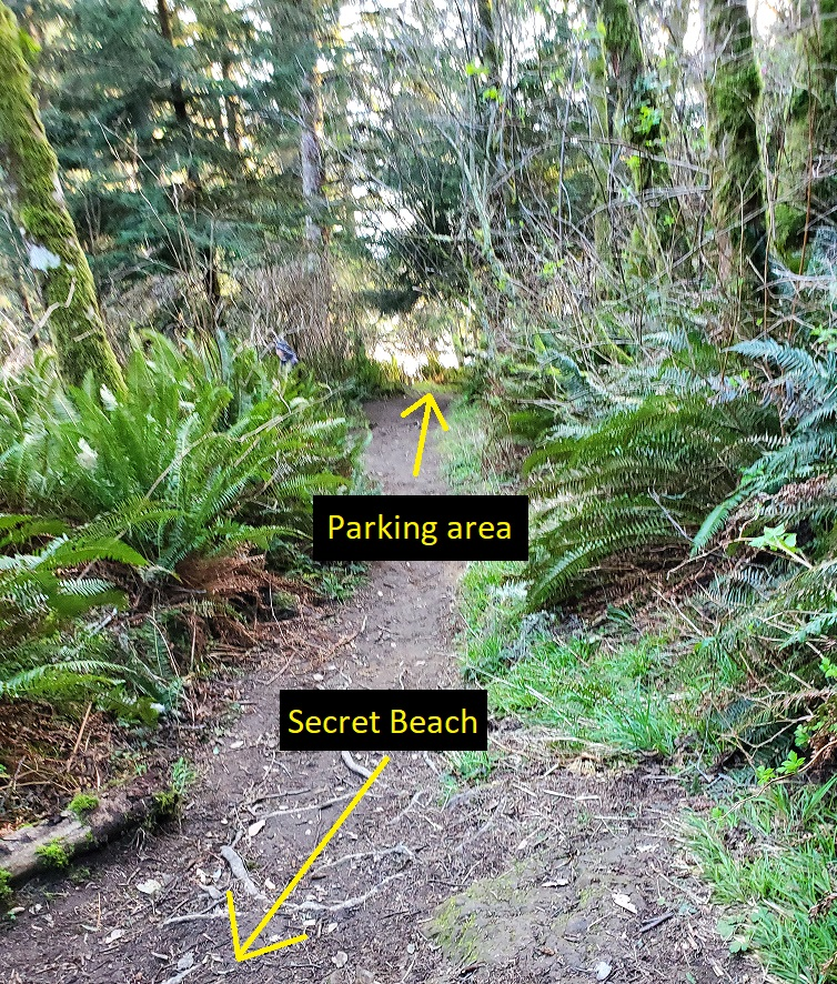 secret beach trail