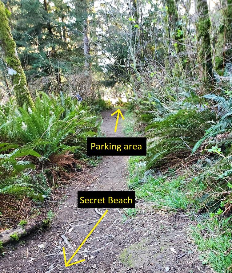 secret beach trail