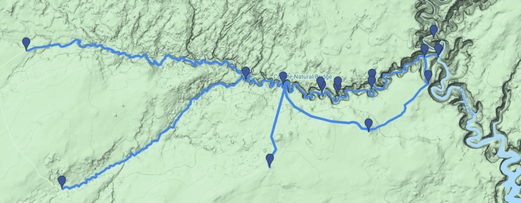 coyote gulch map image