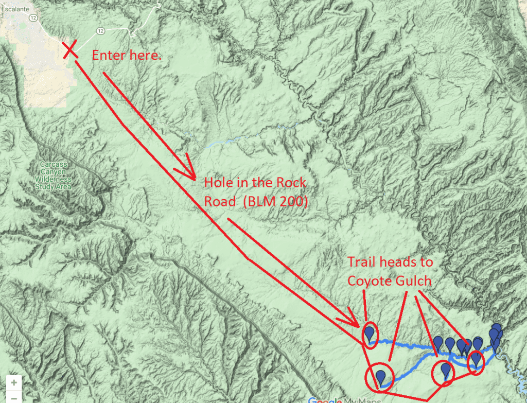 how to get to coyote gulch
