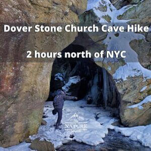 dover stone church cave hike near nyc