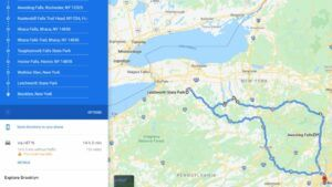 map of the best waterfalls in new york state