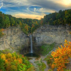 taughannock falls located in new york state