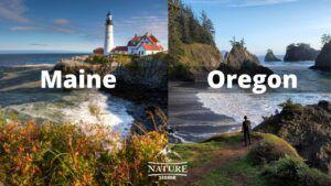 maine coast vs oregon coast comparison 2