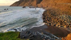 overlook near coast highway lookout california coast