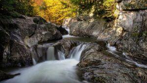 warren falls green mountain national forest