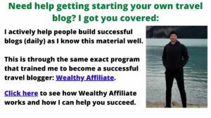 help starting a travel blog