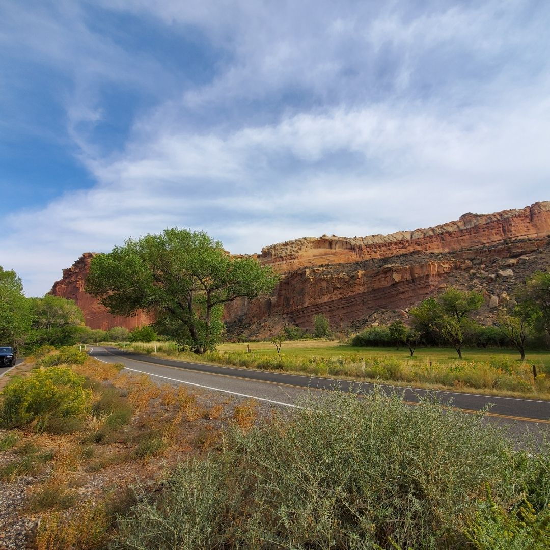capital reef national park scenic drive utah