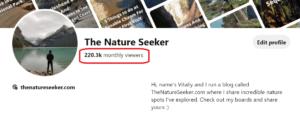 pinterest my travel blog stats