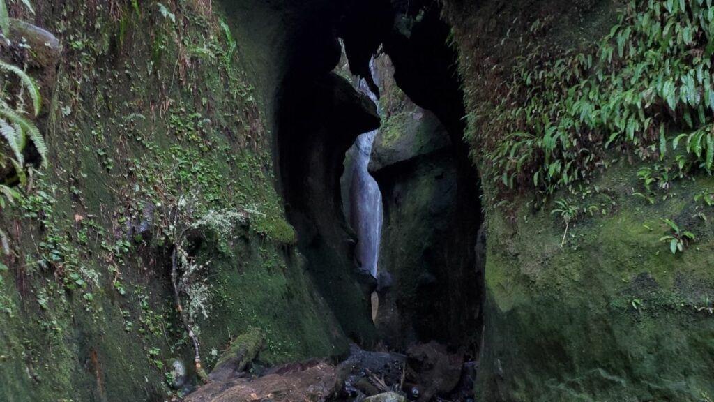sombrio beach waterfall