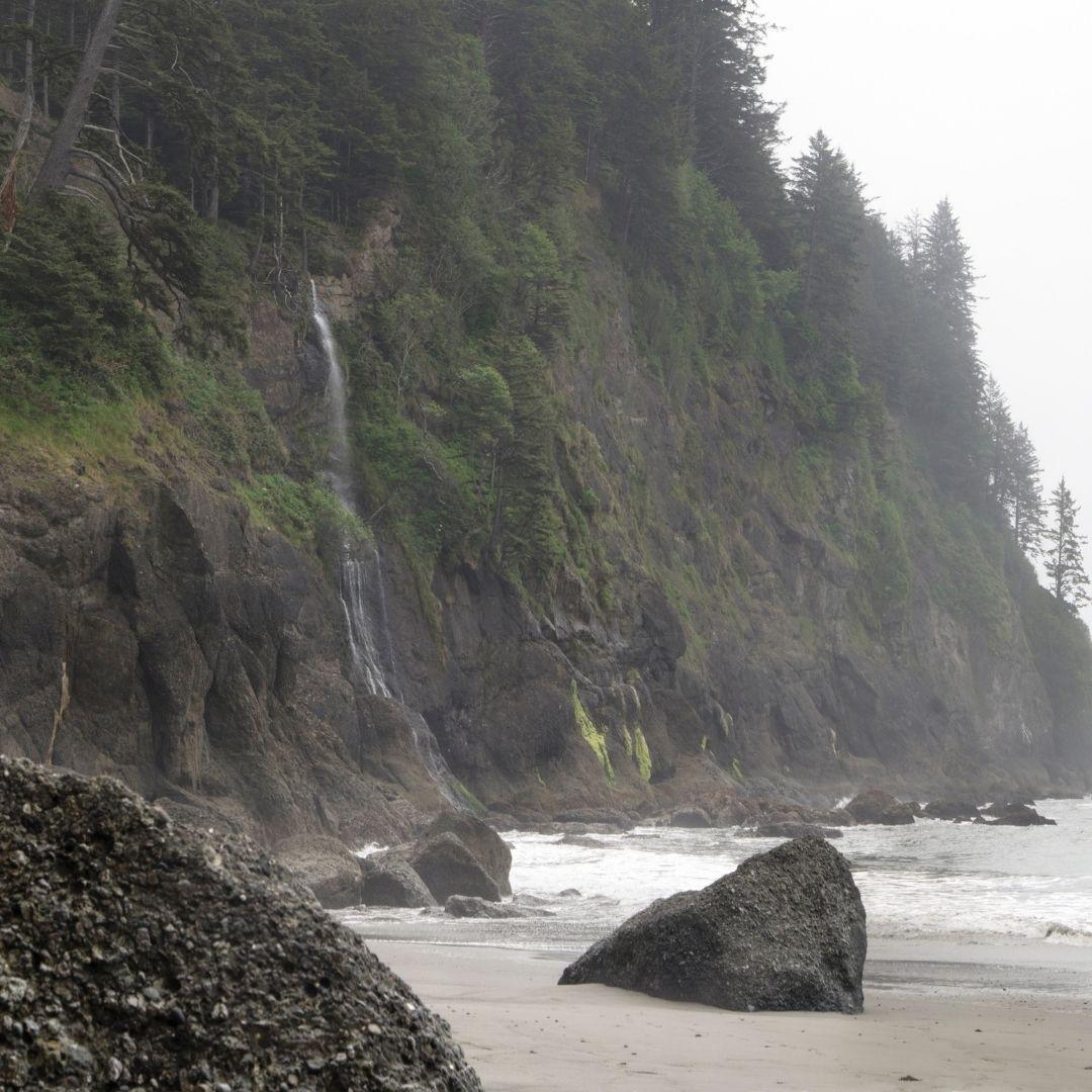 third beach falls waterfall on beach 01