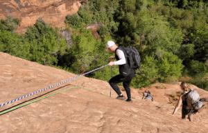 coyote gulch rope climb 2