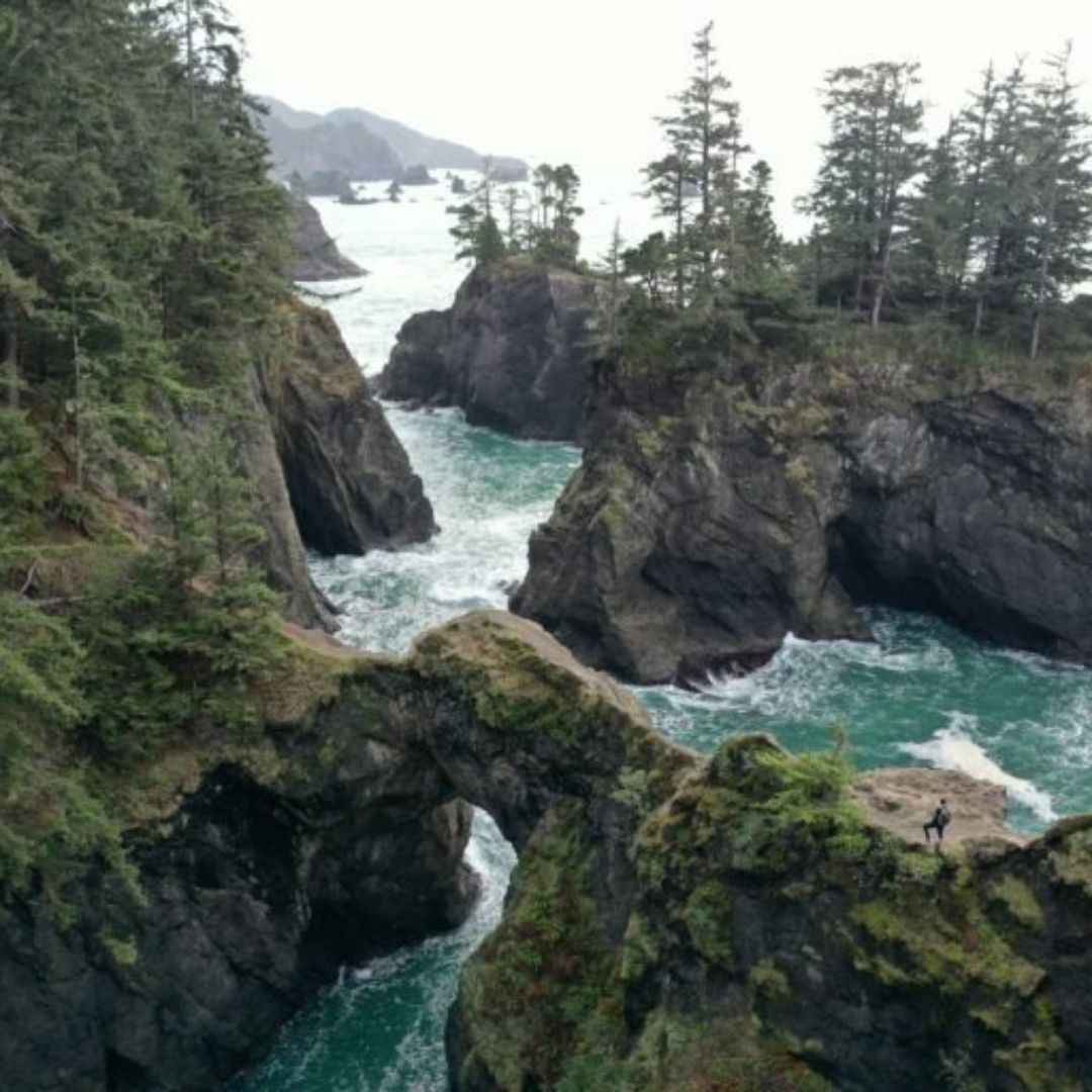 natural bridges day hike oregon coast