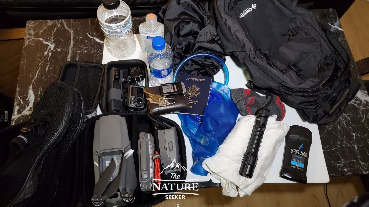 everything you can fit into outdoor products hydration pack
