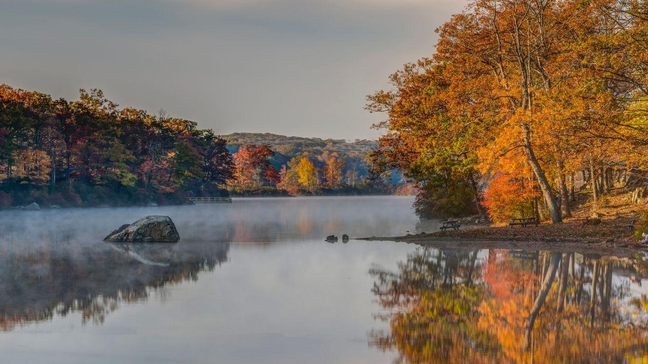 harriman state park beautiful lake