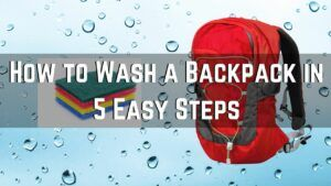 How to Wash a Backpack in 5 Easy Steps