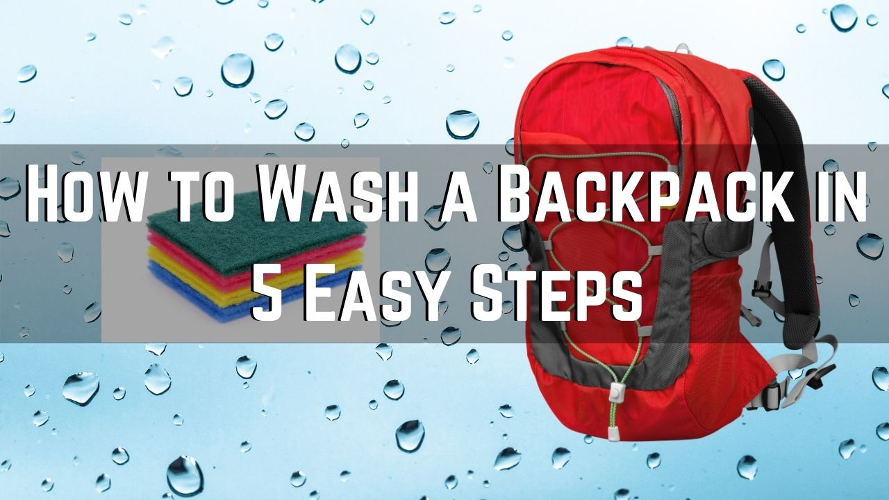 how to wash a backpack
