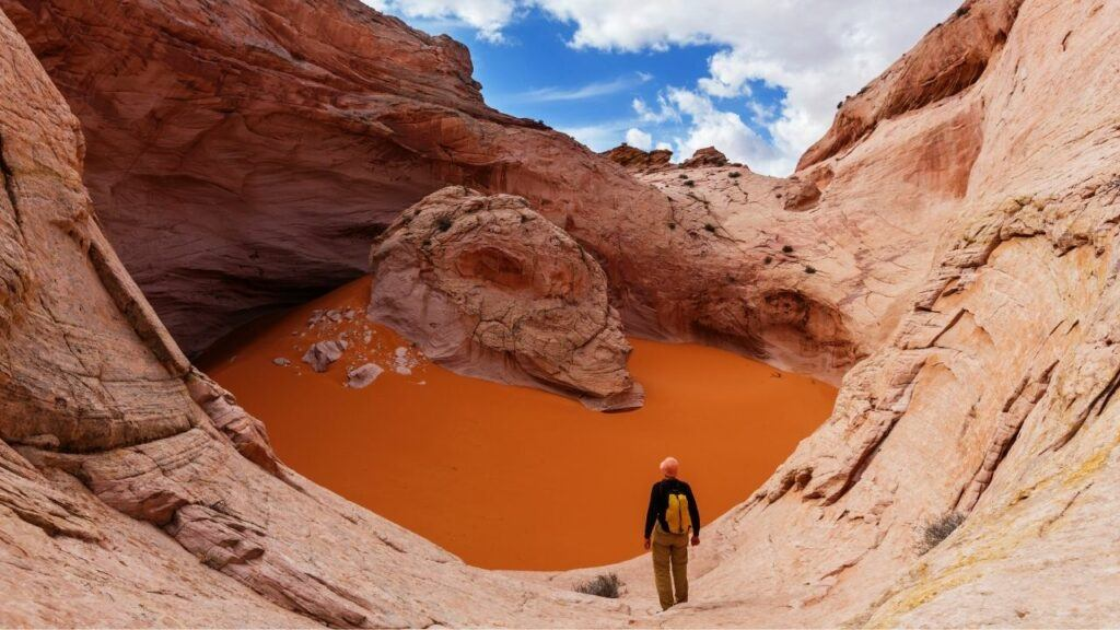 Red breaks and Cosmic Ashtray hike in grand staircase escalante