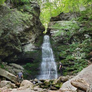 buttermilk falls near peekamoose blue hole