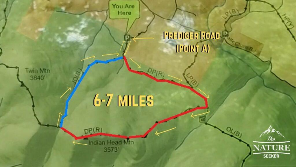 map of devils path one day short hike