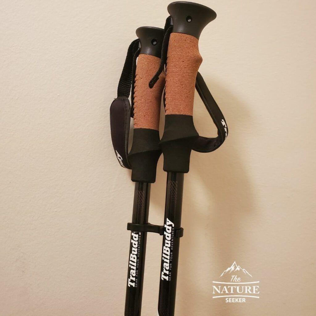 trailbuddy trekking poles handle area