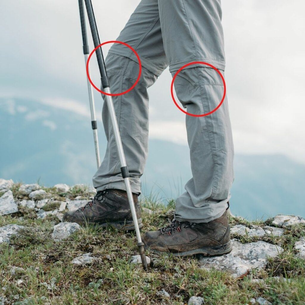 trekking poles can help reduce knee pain