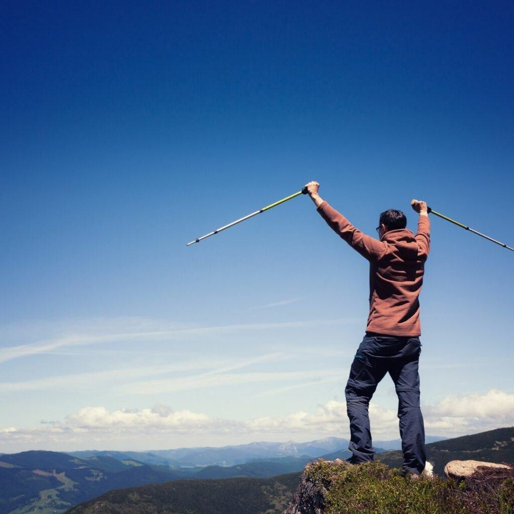 trekking poles can help you hike longer and further