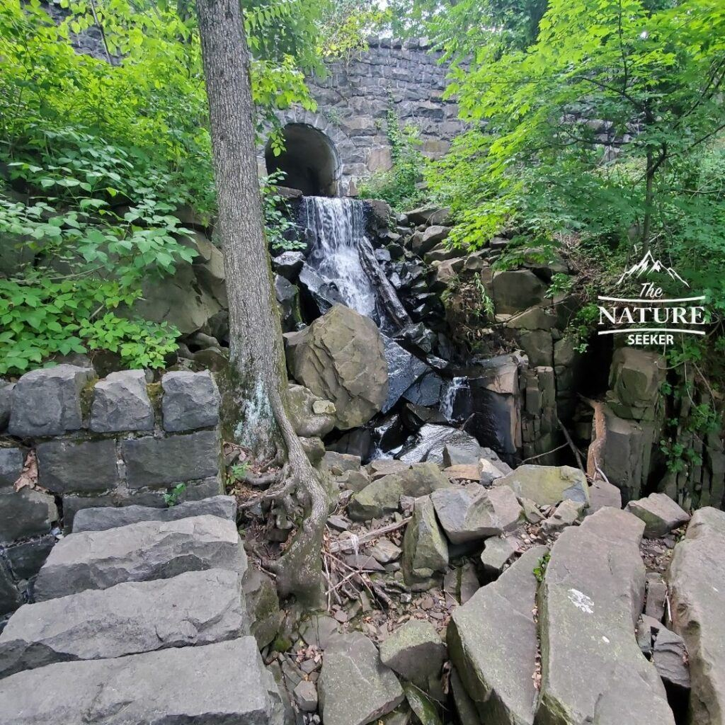 fort lee historic park waterfall hike