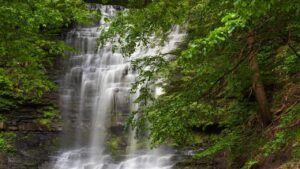stony kill falls in the catskill mountains