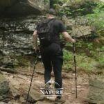 trailbuddy trekking poles in action