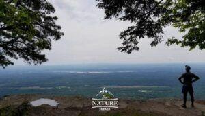 boulder rock catskill mountains hiking trail