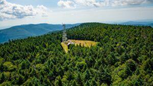 hunter mountain fire tower catskill mountains hiking trail