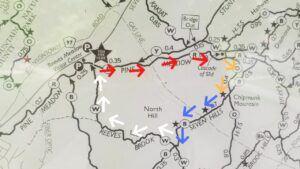 reeves brook loop trail harriman state park clockwise path