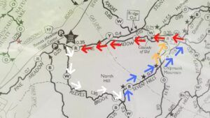 reeves brook loop trail harriman state park counterclockwise path 01