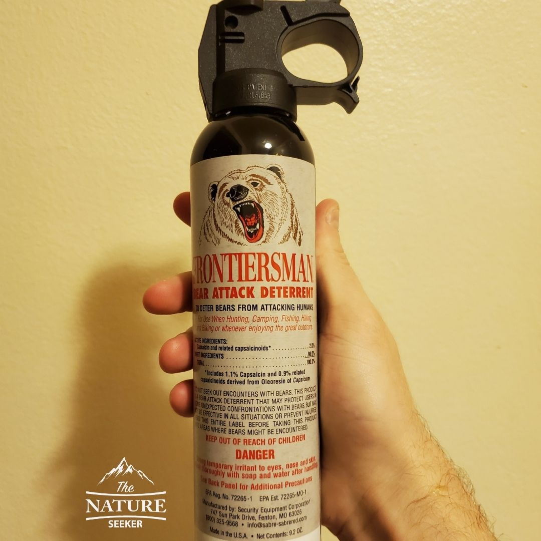 bear spray things to bring on a hike