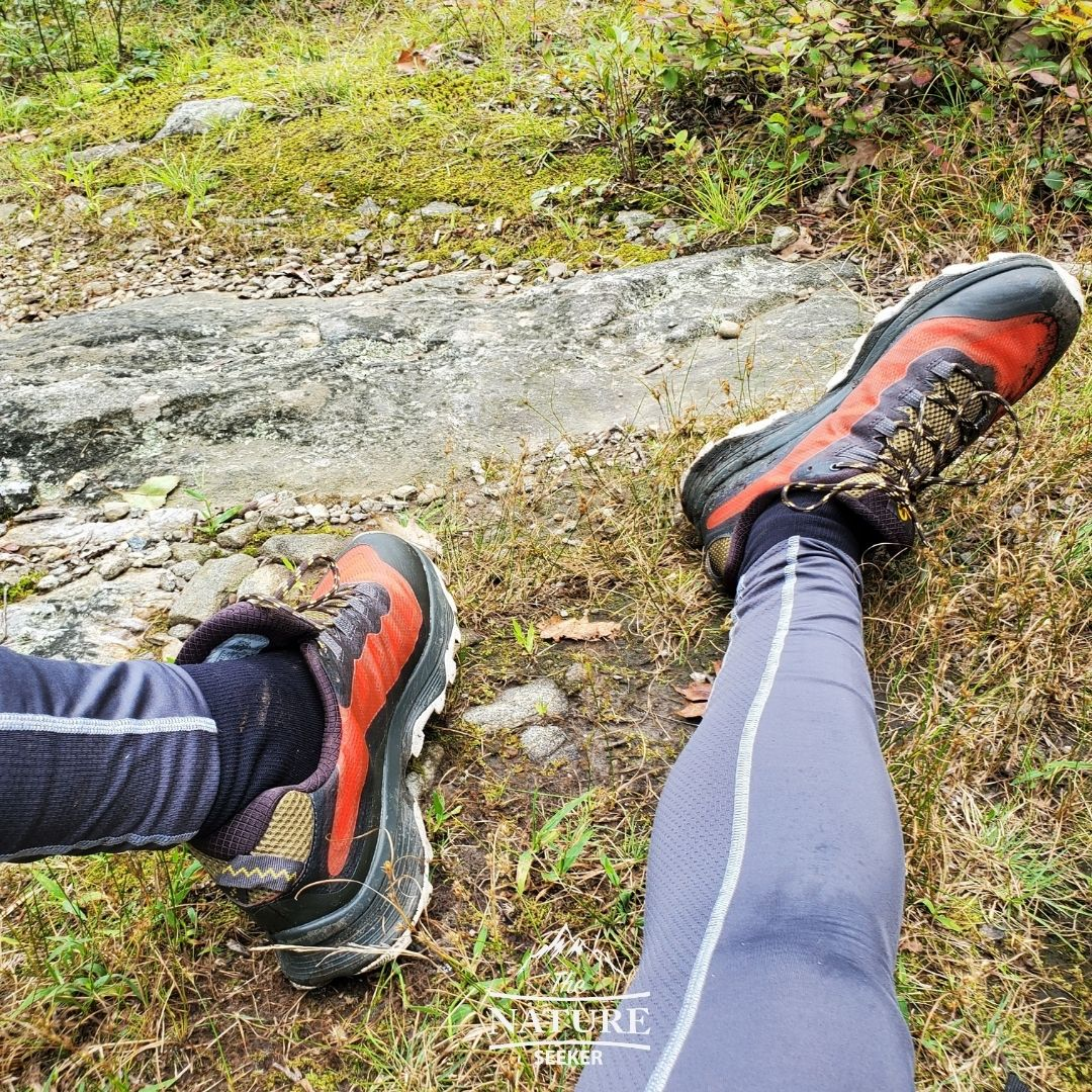 Merrell Men Moab Speed Hiking Shoes used on path