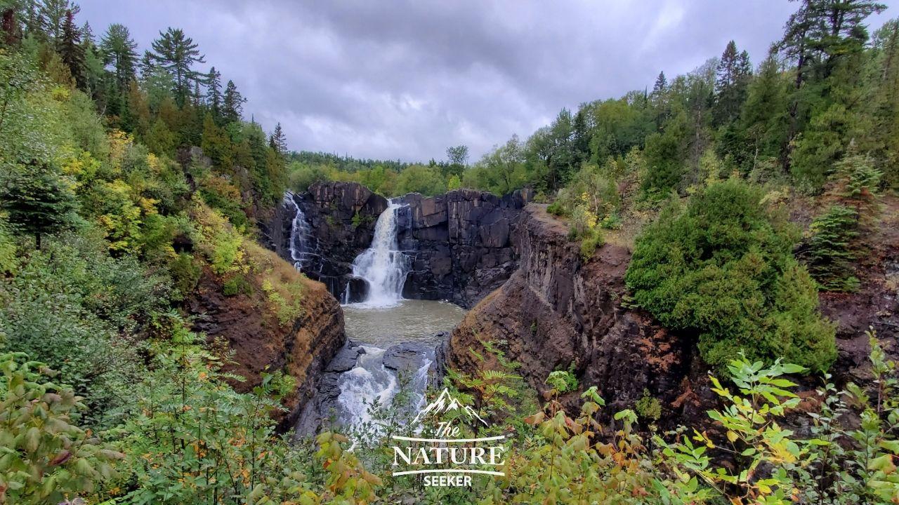 North Shore Minnesota grand portage state park waterfall