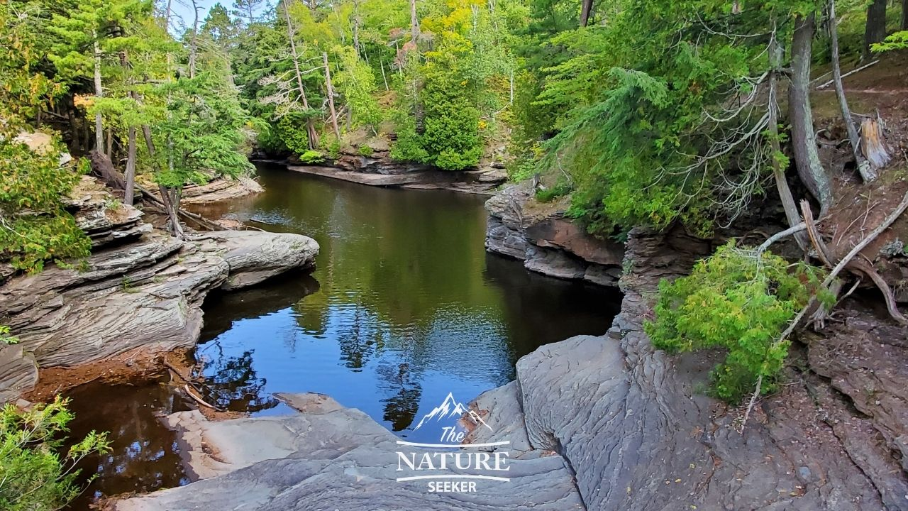 Presque Isle River Waterfalls Loop Trail upper peninsula of michigan 06