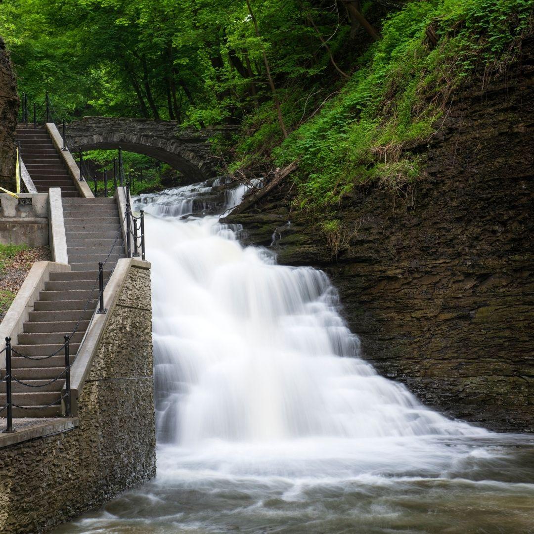 finger lakes waterfalls cascadilla gorge falls