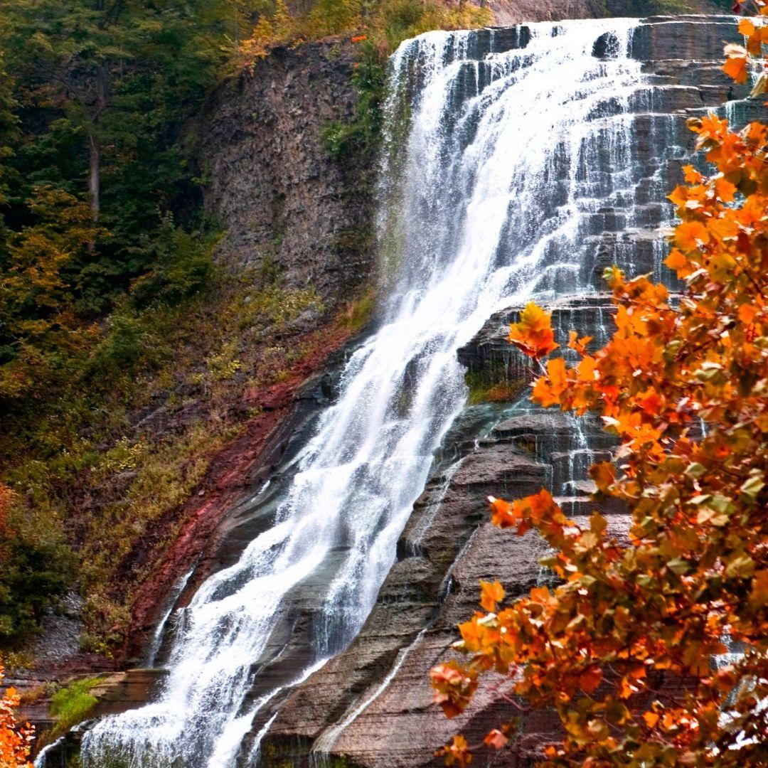 finger lakes waterfalls glenora falls