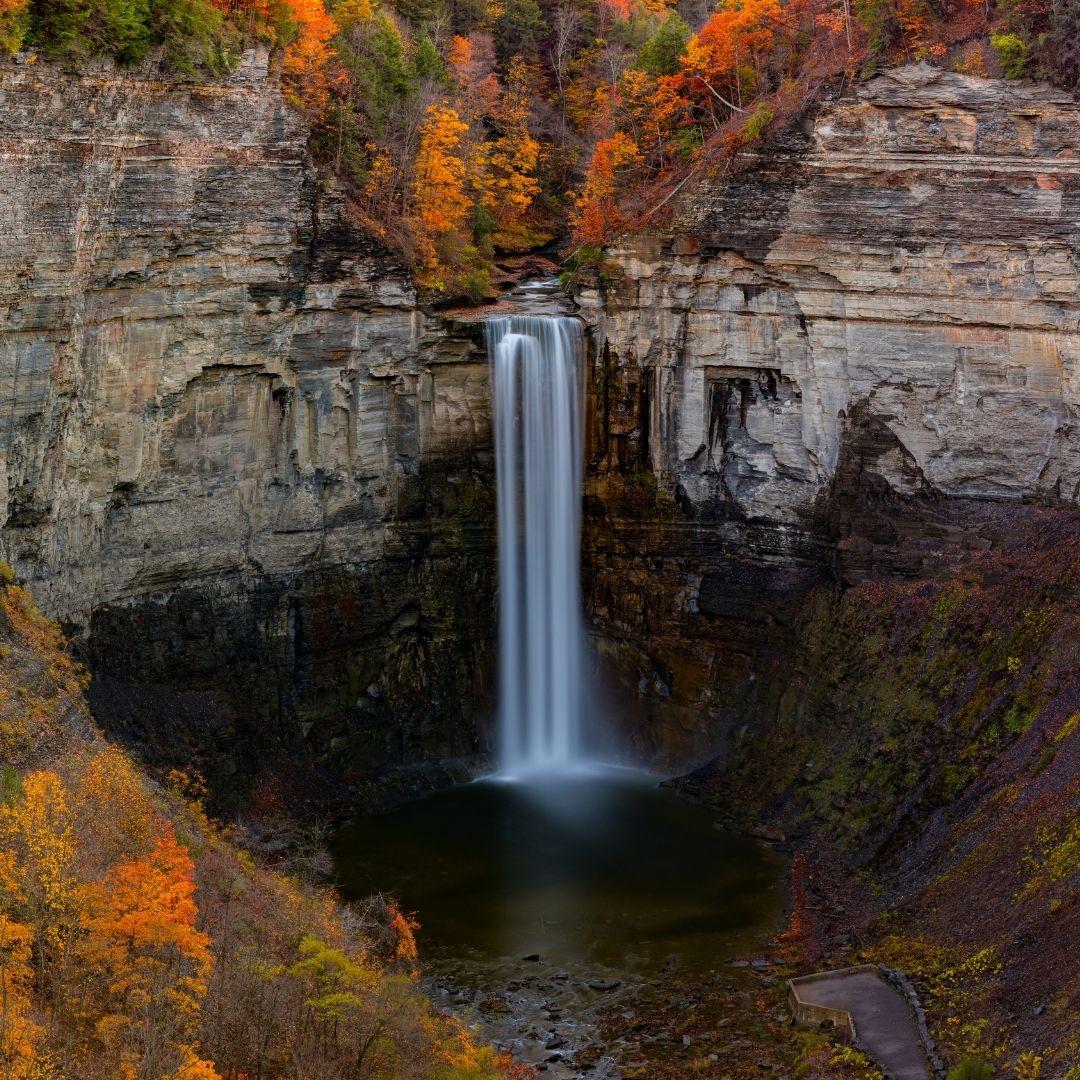 finger lakes waterfalls taughannock falls 03