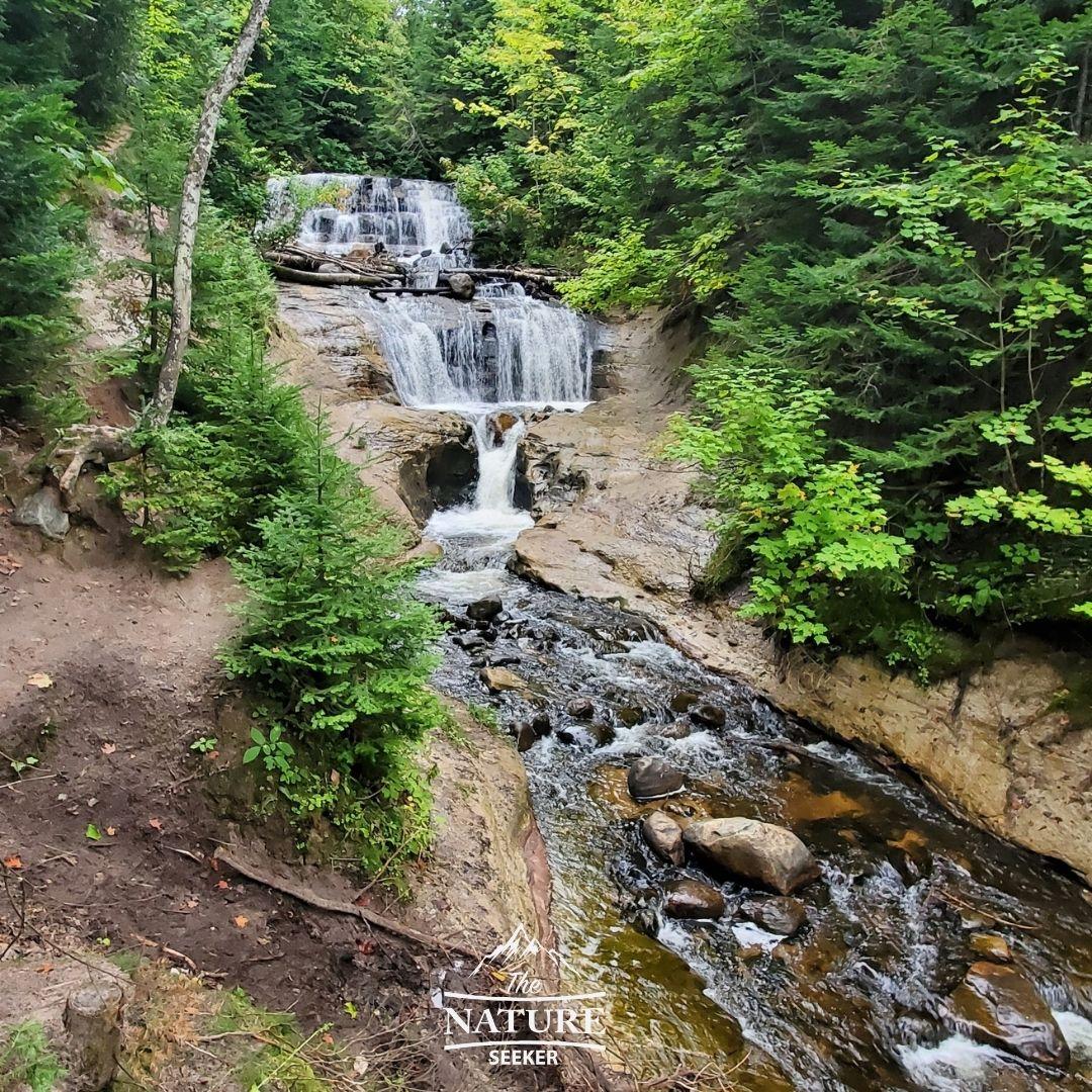 sable falls pictured rocks national lakeshore